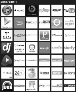 phonosphere music is distributed by the following partners